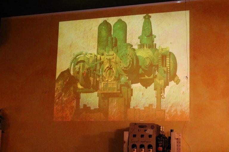 Durante la presentazione abbiamo anche proiettato alcune immagini: i presenti hanno avuto la possibilità di acquistare una copia dell'artbook mondonoviano di Franco Brambilla!